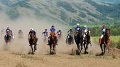 Bayga - traditional nomad horses racing — Stock Photo