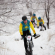 Winter mountain bike competition — Stock Photo #9191382