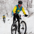 Winter mountain bike competition — Stock Photo #9191412