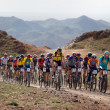 Mountain bike marathon in desert — Stock Photo