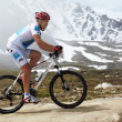 Mountain bike and runnig competiton — Stock Photo #9191700