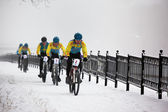 Winter-mountain-bike-wettbewerb — Stockfoto