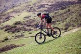 Maratón de bicicleta de montaña de primavera — Foto de Stock