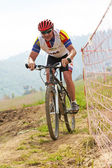 Mountain bike cross-country race — Stock Photo