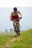 Dağ bisikleti arazi yarışı — Stok fotoğraf