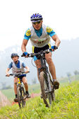 Mountain bike cross-country race — 图库照片