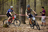 Mountain bike cross-country relay race — Foto de Stock