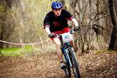 горный велосипед лыжные эстафеты — Стоковое фото