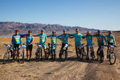 Mountain bike Team — Stock Photo