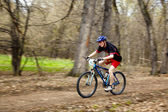 Mountain bike estafette cross-country — Stockfoto
