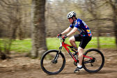 Corrida de revezamento do mountain bike cross-country — Foto Stock