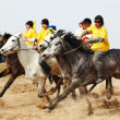 Traditional national nomad horse riding - Stock Photo