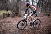春のマウンテン バイクの競争 — ストック写真