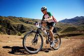 Abenteuer Berg Bike Wettbewerb — Stockfoto