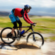 Adventure mountain bike competition — Stock Photo #9385798