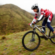 Mountain bike adventure competition - Foto Stock