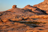 Desert mountains at sunset — Stockfoto