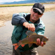 Stock Photo: Fishing in Mongolia