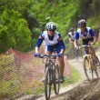 Mountain bike cross-country race — Stock Photo