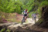 Corrida de mountain bike cross-country — Foto Stock