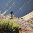 Adventure mountain boke competition - Stockfoto