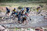 Spring mountain bike marathon — Stock Photo