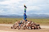 Sacred pass in Mongolia — Stock Photo