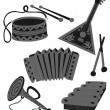 Royalty-Free Stock Vector Image: Set traditional Russian tools