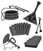 Set traditional Russian tools — Stock Vector