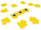 Puzzles with letters. 3D — Stock Photo