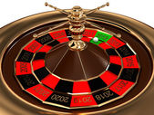 Roulette with years isolated on white background. 3D image — Stock Photo