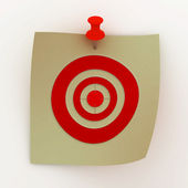 Sheet painted with a target. 3D image — Stock Photo