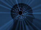 Head with labyrinth. 3D image — Stock Photo