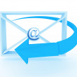 Envelopes with at and arrow. 3D image — Stock Photo #9332851