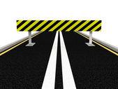 Road under construction. 3D image — Stock Photo