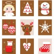 Royalty-Free Stock Vector Image: Christmas characters & accessories, icon & elements