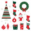 Christmas & winter design elements isolated on white — Stock Vector #7963999