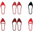 Retro shoes set isolated on white ( black & red ) — Stock Vector #7964018