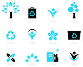 Ecology, nature and environment icons set — Stock Vector
