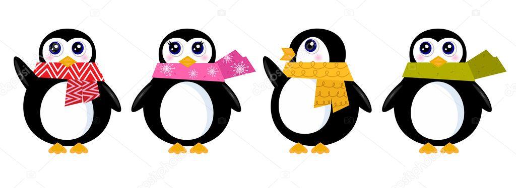 Cute retro winter Peng...