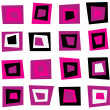 Retro seamless background or pattern with pink squares — Stock Vector #8776790
