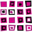 Retro seamless background or pattern with pink squares — Stock Vector