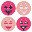 Royalty-Free Stock Vector Image: Retro bikini summer set isolated on white