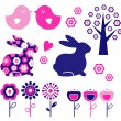 Spring and easter design elements set ( vector ) — Stock Vector