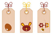 Retro easter labels set isolated on white — Cтоковый вектор