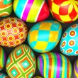 Colorful painted easter eggs — Foto Stock