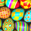 Colorful painted easter eggs — Stock fotografie