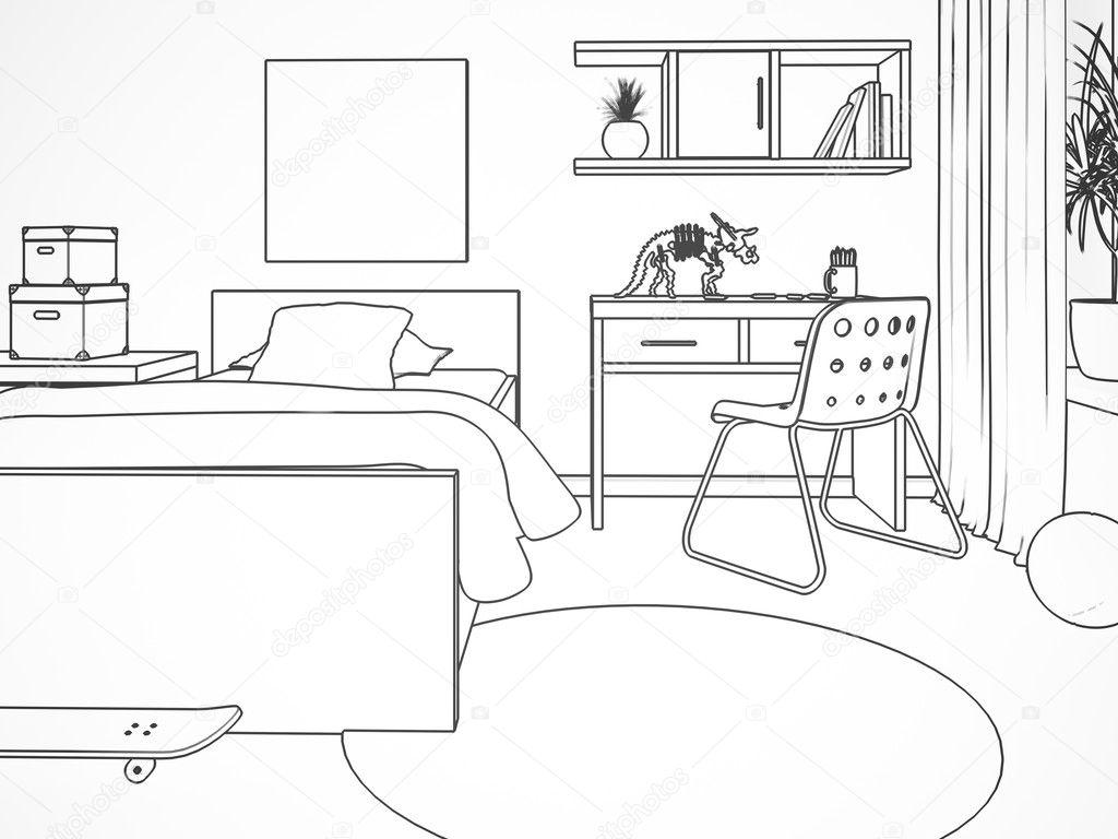 3d zimmer zeichnen raum zeichnen perspektive 3d zeichnen lernen zimmer zeichnen bilder. Black Bedroom Furniture Sets. Home Design Ideas