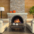 Part of the modern interior with fireplace — ストック写真 #9392354