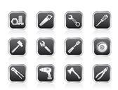 различные виды инструментов значки — Cтоковый вектор